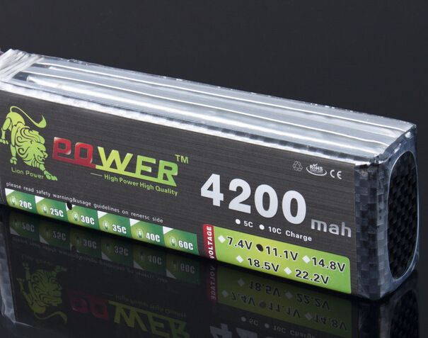 Lion power 11.1v 4200mah 35c For halicopter four axis shaft manufacturers wholesale power 3S Lipo 11.1 v