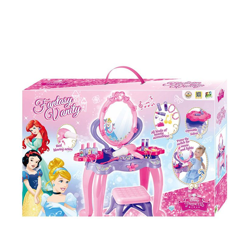 100FUN Children's Dressing Table Makeup Dressing Princess Beauty Makeup Girl Simulation House Gift Box Toy Educational Toys