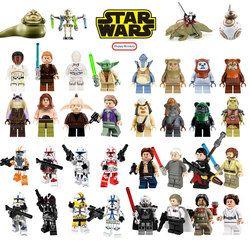Star Building Blocks Wars Jedi Chewbacca Han solo Darth Vader legoing Figures Jango Fett Obi Wan Models Toys for children bk37