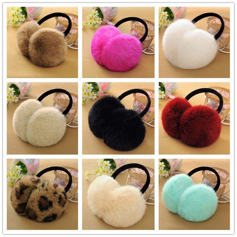 The new real rabbit fur. Ear protection earmuffs plush. Cute earmuffs men and women