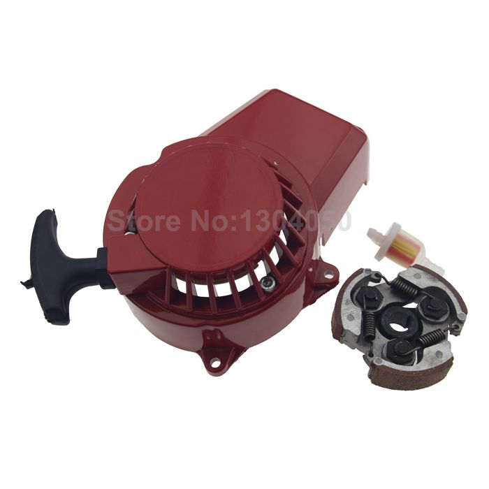 2-Stroke Clutch Pad With Alloy Pull Start Starter Gas Fuel Filters For 43cc 47cc 49cc ATV QUAD Bike Dirt Pocket Scooter