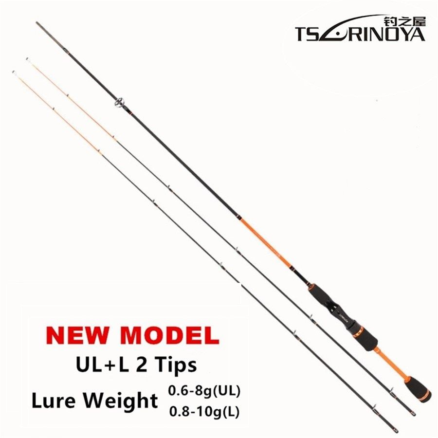 TSURINOYA Lure Weight 0.6-8g Ultra Light Night Fishing Spinning Rod 1.8m UL+ L 2 Luminous Tips <font><b>Carbon</b></font> Carp Spinning Fishing Rods