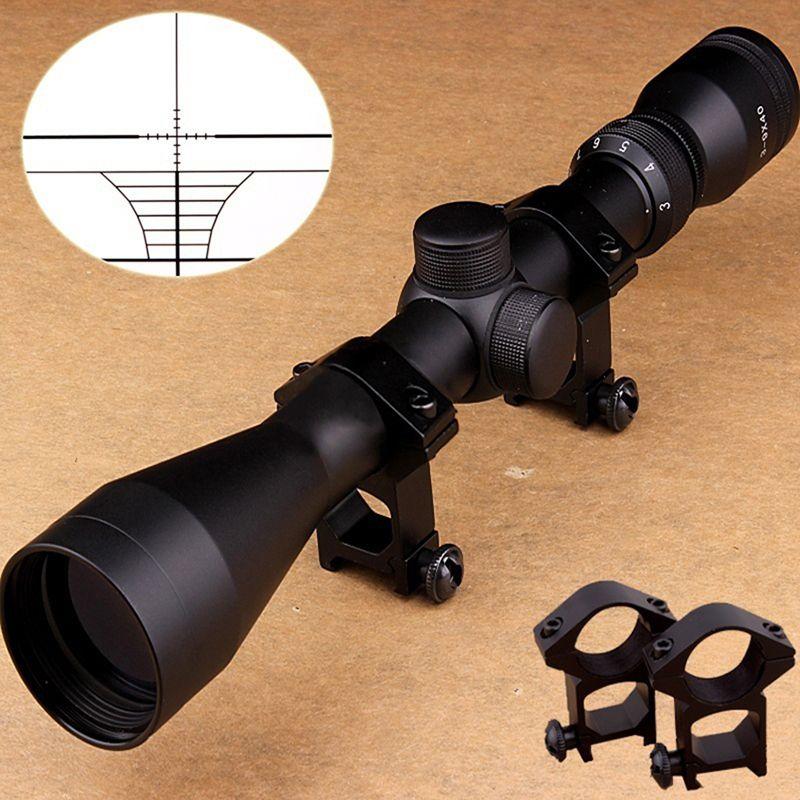 3-9x40 rifle scope Sight Tactical rifle óptico alcance dot Sight iluminado teórica vista para Caza ferrocarril alcance qz0226