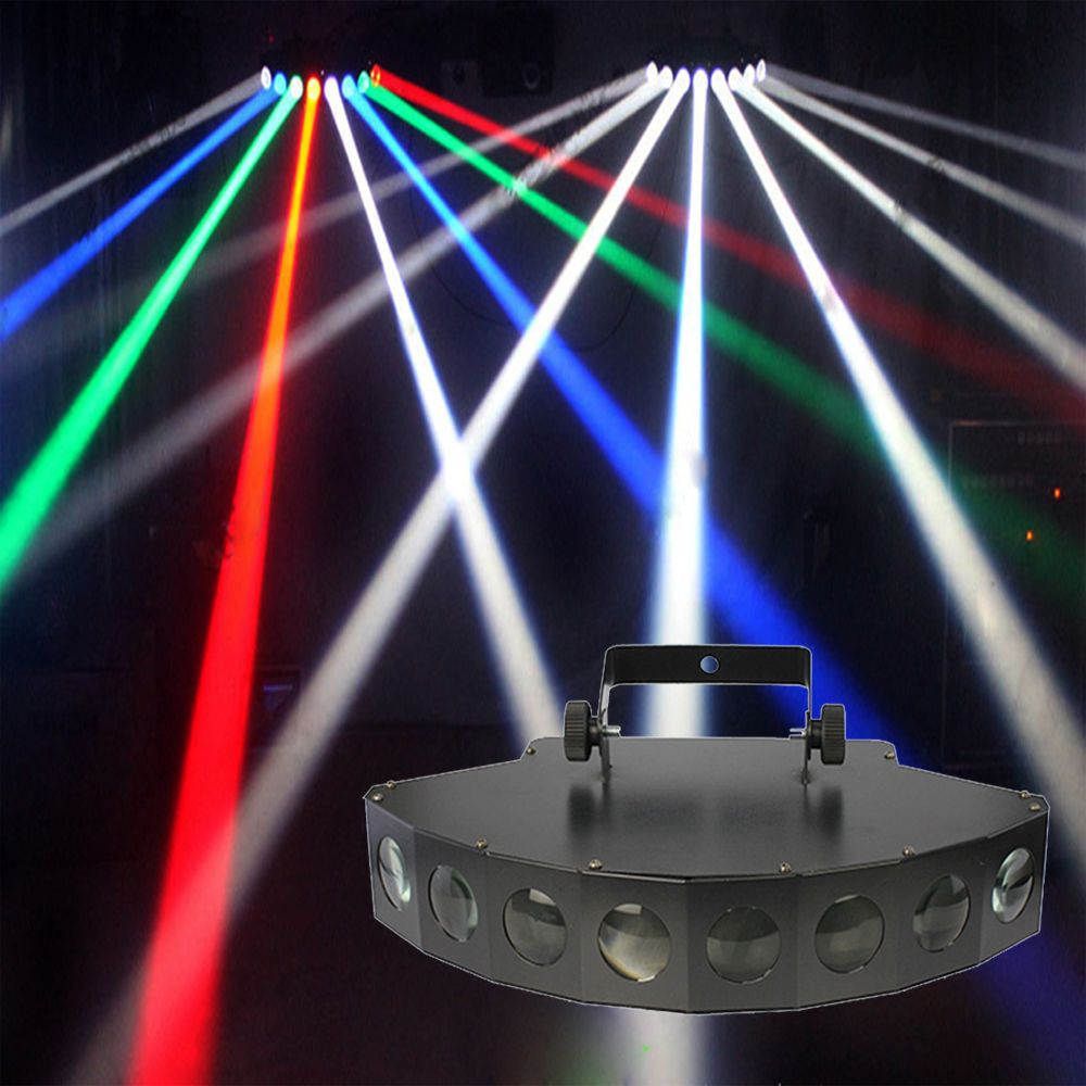 2017 new LED DMX 8*10W beam light colored dj club RGBW Scan Stage Effect Lighting disco wedding profesional laser light