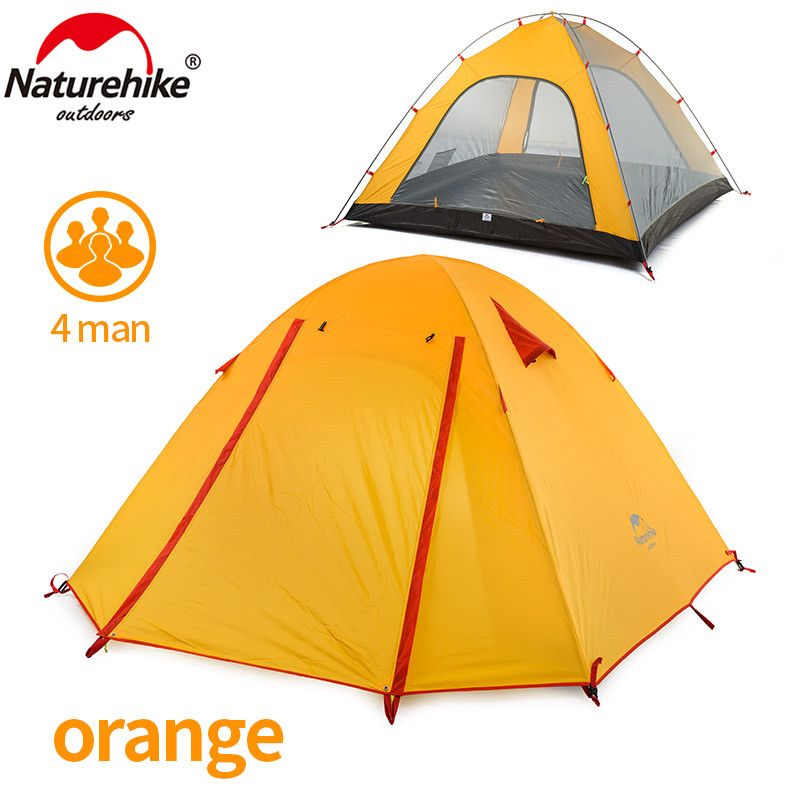 NatureHike P Serie Classics Zelt 210 T Stoff Für 4 Person NH15Z003-P 215*215*130 cm Doppelschicht Outdoor Camping Wanderung Reise