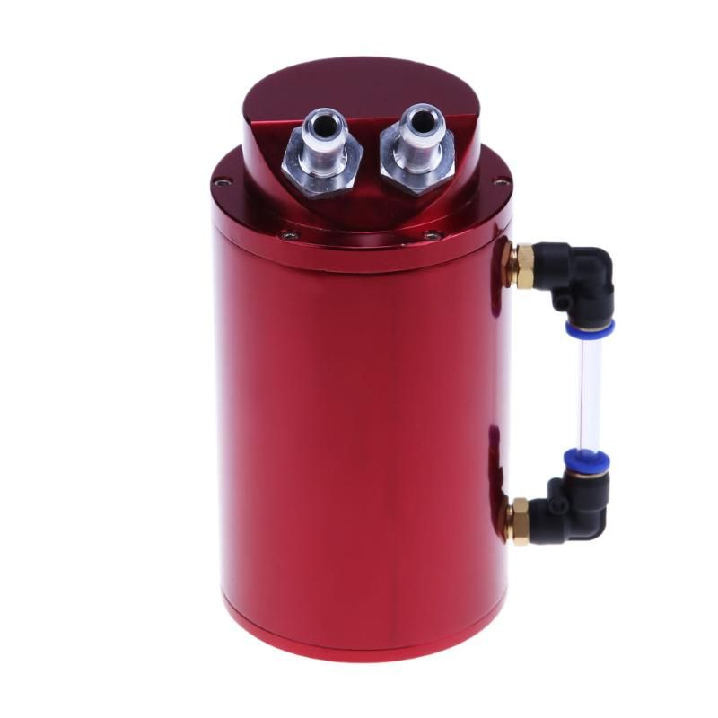 Universal Aluminum Alloy Cylinder 10mm/15mm Engine Oil Catch Tank Can Reservior Car Styling