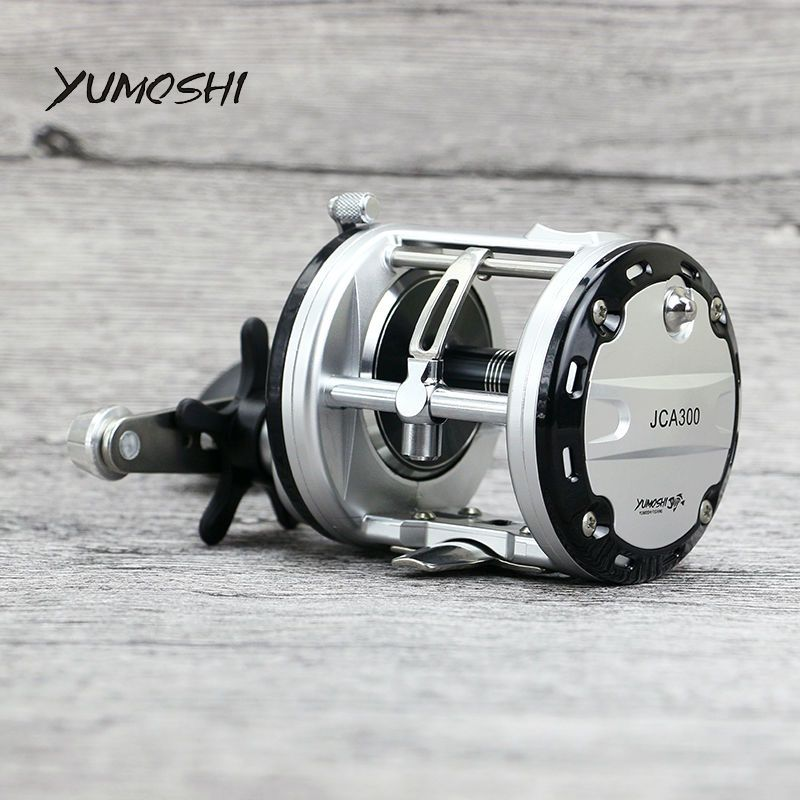 2017 NOUVEAU YUMOSHI 12 + 1BB pêche en mer gapless Roue Tambour moulinet de pêche