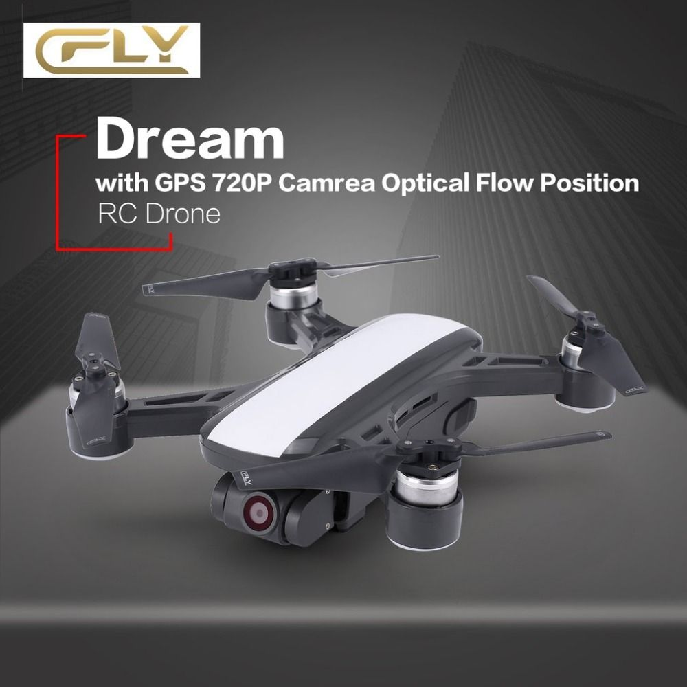 C-FLY Dream 5G Altitude Hold Drone GPS Optical Flow Positioning Follow Me RC Quadcopter with 720P FPV,1080P Video HD Camera