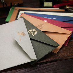 JWHCJ Européenne vintage estampage à Chaud impression Kraft papier enveloppes Kawaii Fournitures Scolaires Enveloppe pour le Mariage Lettre D'invitation