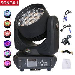 19x15W RGBW 4in1 LED Zoom Moving Head Light Wash Moving Head Light Professional DJ Nightclub Disco Party Light/SX-MH1915A