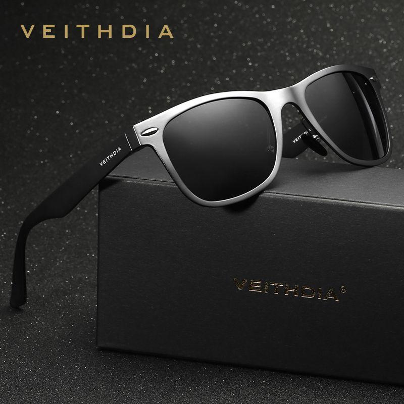 VEITHDIA Brand Unisex Aluminum Square Men's Polarized Mirror Sun Glasses Female Eyewears Accessories Sunglasses For Men VT2140