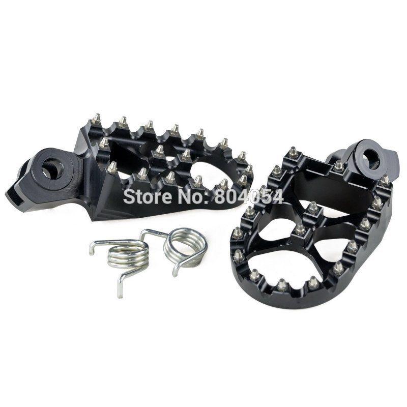 Black CNC Billet Wide Fat Foot Pegs For Suzuki RMX450Z 2010-2011 RMZ450 2008 2009 2010-2015