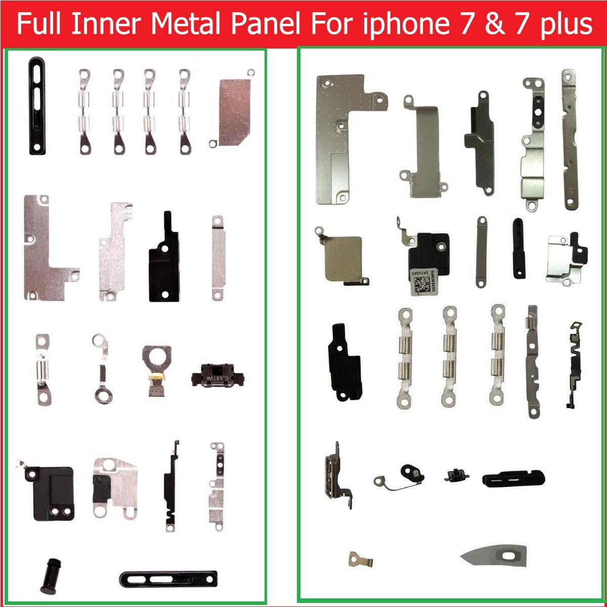 Full body inner Small Metal iron parts For iPhone 7 & 7 plus Small holder bracket shield plate set kit phone replacement parts