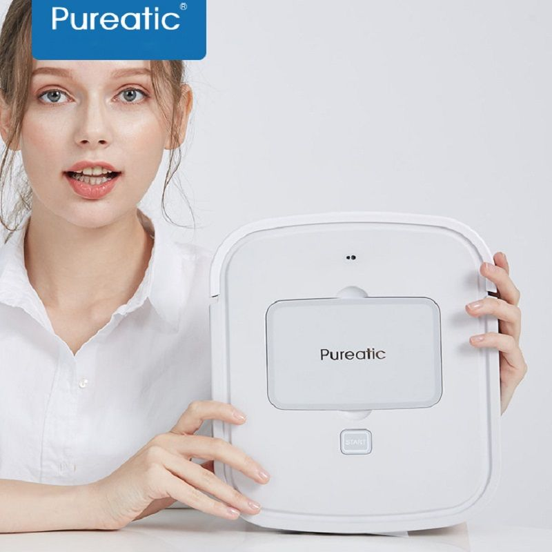 2018 Pureatic Intelligent Sweep Floor Robot Home Fully Automatic Ultra Thin Vacuum Cleaner Wipe Ground Mopping Machine Aspirador