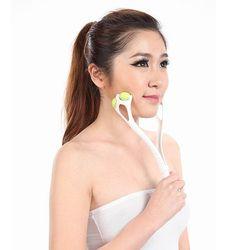 1 шт. новый мощный тонкий массажер для лица шеи роликовый Набор для лица массаж для похудения удаление линии случайный цвет