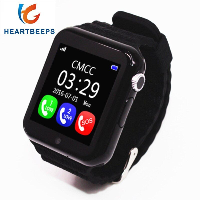 Original V7K GPS Bluetooth Smart Watch for Kids Boy Girl Apple Android Phone Support SIM /TF Dial Call and Push Message