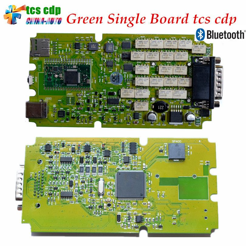 Best Quality Latest 2016.00/2015.0 with Keygen Single Green PCB board TCS CDP Pro with Bluetooth cars&Trucks Diagnostic Scanner