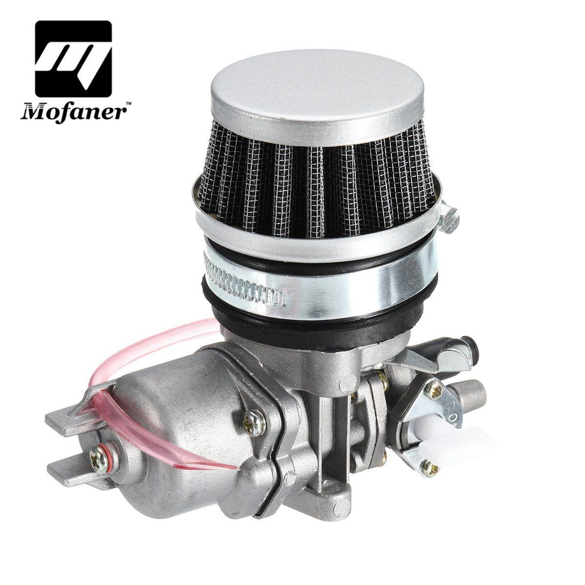 1Set Metal Motorcycle Carburettor Carb Air Filter Set For 47cc 49cc Mini Moto Pit Dirt Bike Go Kart