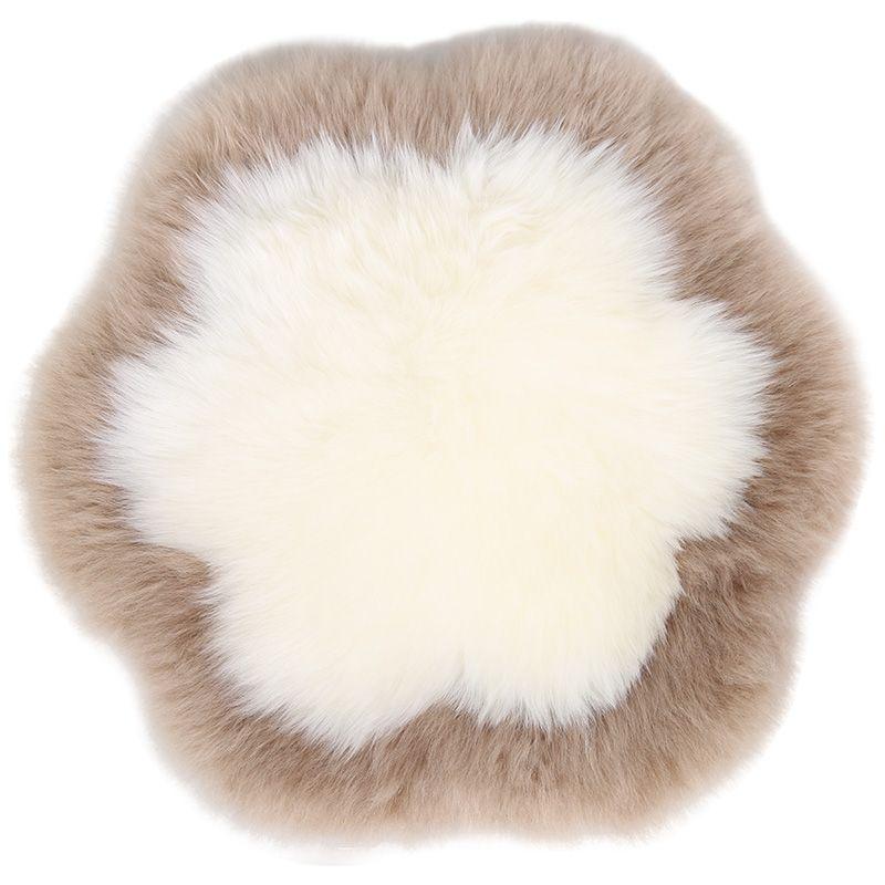 Peau de mouton tapis de fourrure pour la décoration intérieure une peau de mouton tapis pour salon chambre 40*40 cm 50*50 cm fleur en forme de coussin de siège coussin