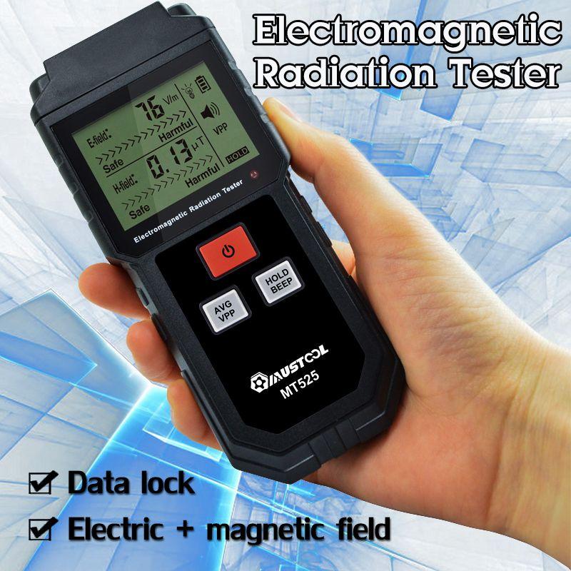 Appareil de contrôle de rayonnement de champ électromagnétique EMF compteur tenu dans la main dosimètre numérique mesure de détecteur d'affichage à cristaux liquides pour le téléphone d'ordinateur