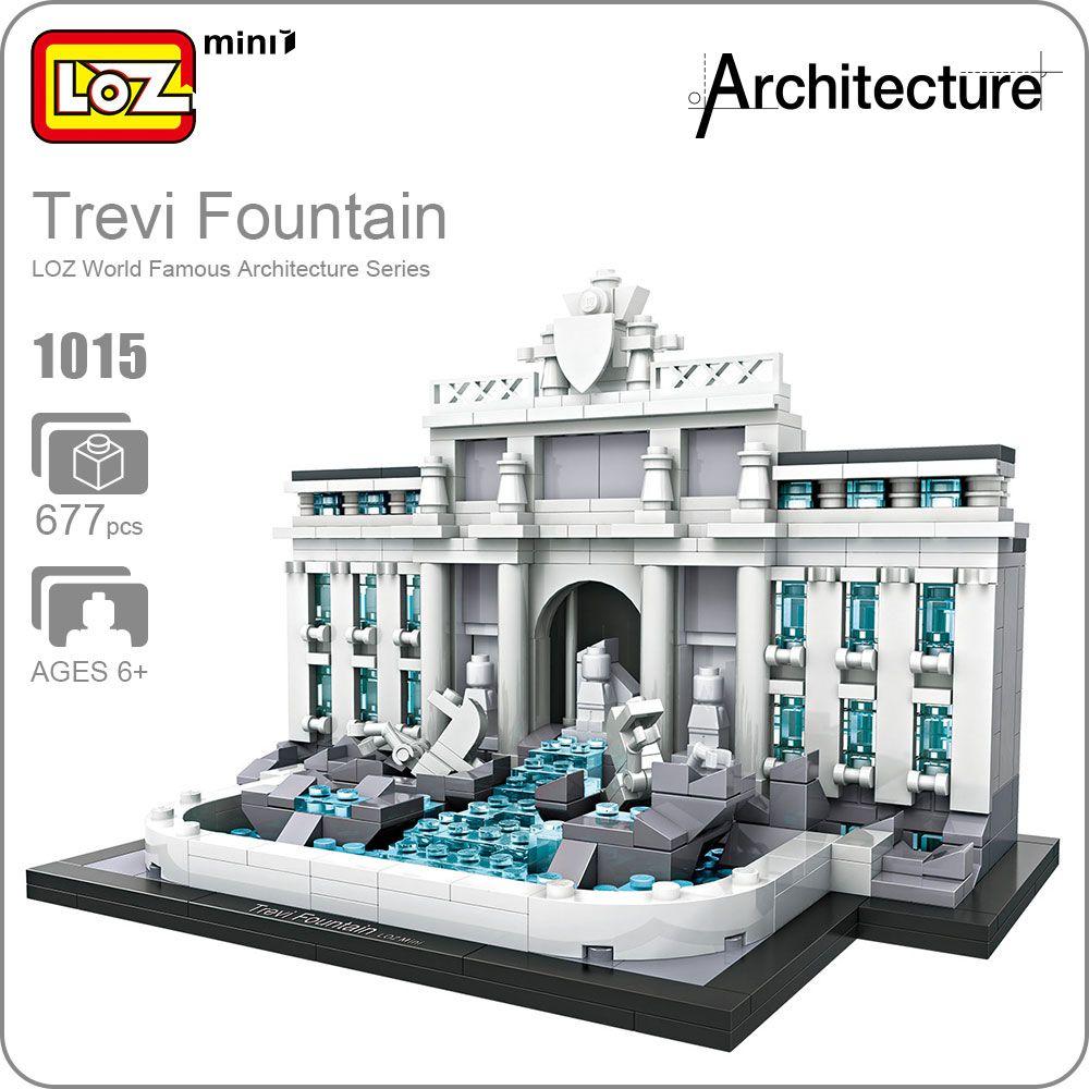 LOZ Mini Blocs Trevi Fontaine Modèle Éducatif Kit Jouets Pour Enfants Blocs de Construction Architecture Assemblée Enfants Jouets DIY 1015