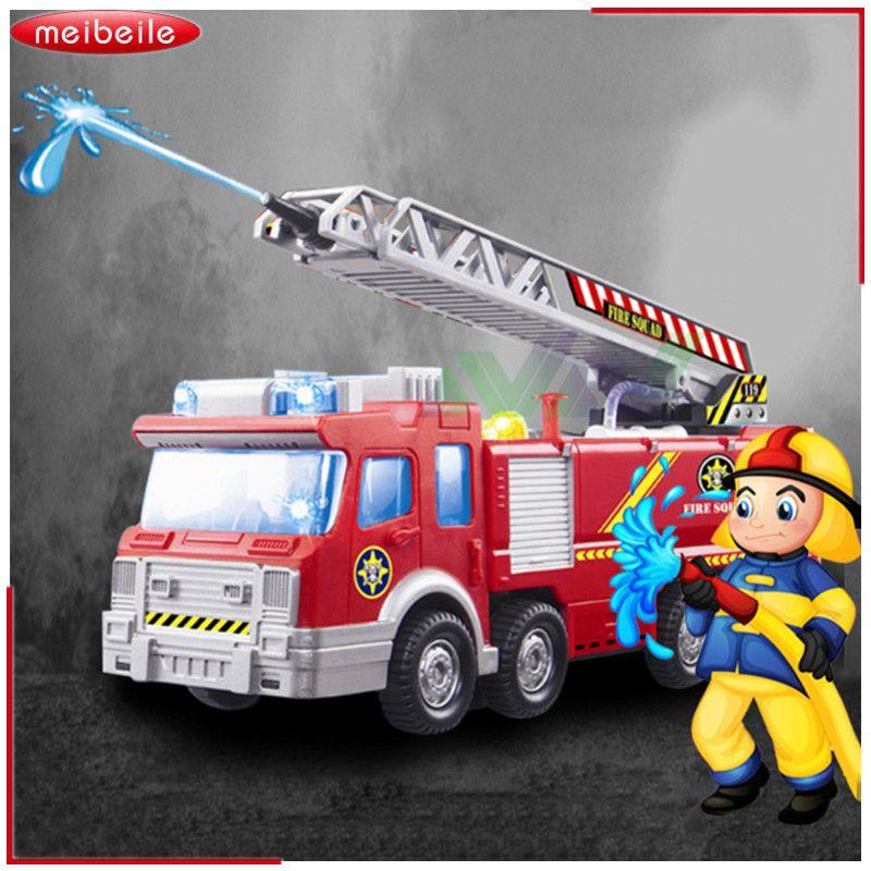 Pistolet à eau de pulvérisation jouet camion camion de pompier Juguetes pompier Sam camion de pompier/moteur véhicule voiture musique lumière jouets éducatifs pour garçon enfants