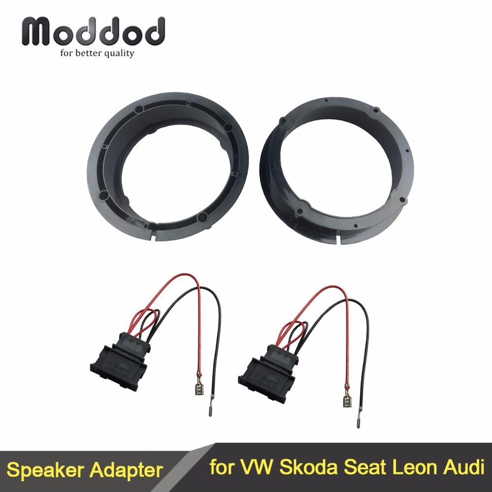 Adaptateur haut-parleurs pour VW Golf IV Passat Polo Skoda Seat Leon Audi adaptateur de haut-parleur anneaux 165mm 6.5