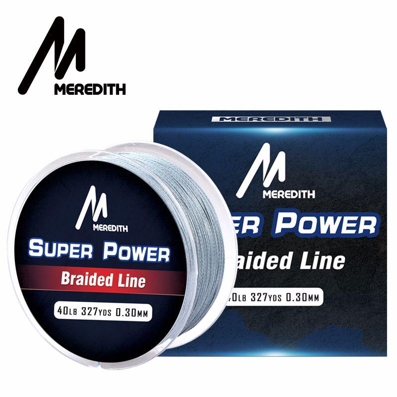 Meredith marque 300 M PE ligne de pêche tressée 4 brins 10-40LB ligne de pêche Multifilament pour le fil de pêche de la carpe pour toutes les pêches