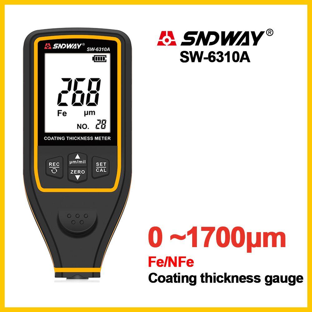 SNDWAY numérique jauge d'épaisseur largeur Instruments de mesure jauges d'épaisseur peinture Film revêtement testeur SW-6310A