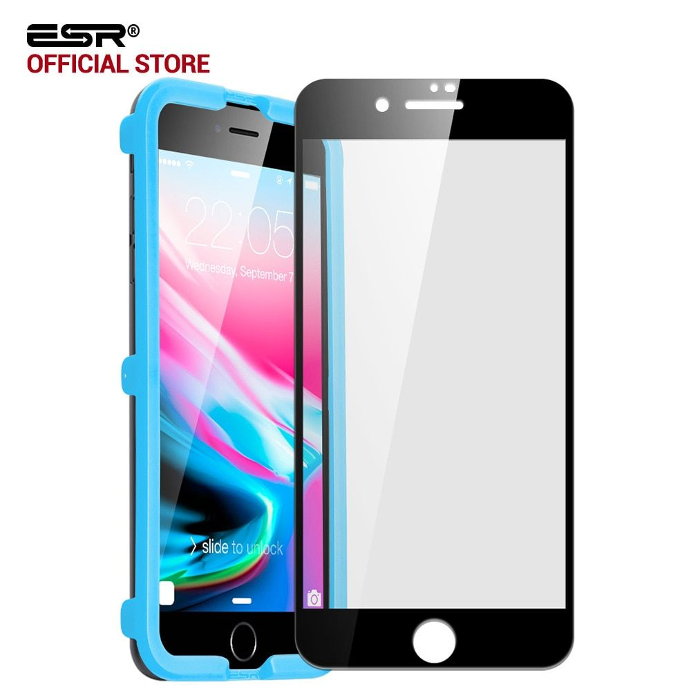 Screen Protector for iPhone 8/8 Plus, ESR Full Coverage Screen Easy Install Clear Tempered Glass Film for iPhone8/8Plus/7/7 Plus