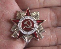 PIN Gran Guerra Patriótica 2nd clase soviética URSS ruso Militar orden medalla Militar Estrella Roja ww2 Día de la victoria NKVD