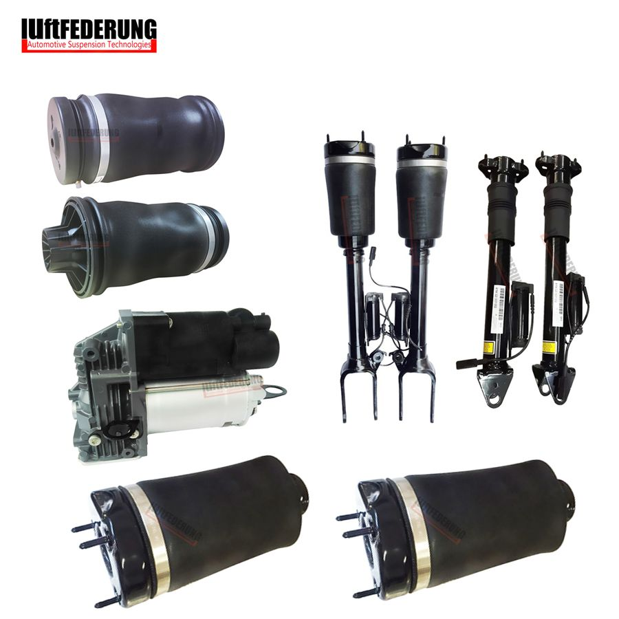Luftfederung 9PCS Mercedes W164 GL Air Spring Air Suspension Air Pump Airmatic Suspension Air Ride Shock Absorber 1643206013