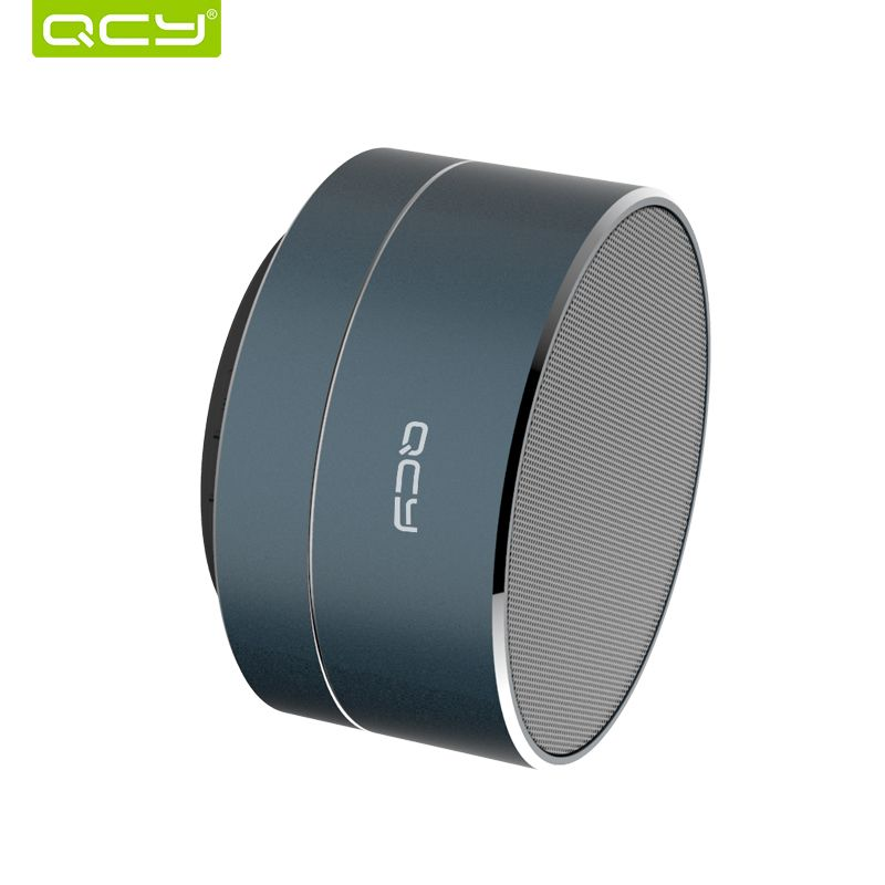 QCY wireless speaker metal mini portable bluetooth subwoof sound with Mic support TF card FM radio AUX for xiaomi iphone