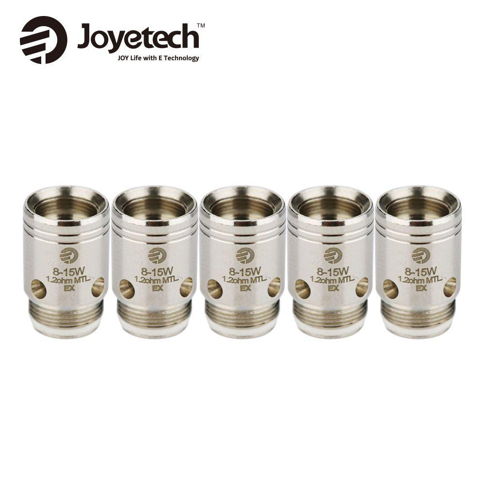 100% Original 5 stücke Joyetech EX Coil Leiter 1.2ohm & ohm Spule für Überschreiten Serie Zerstäuber Ersatzteil EX Vape spule