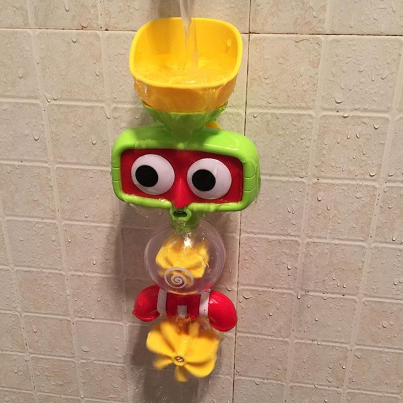 2017 jouets de bain de bébé d'amusement multicolore chaud robinets automatiques de jeu de bec/robinet de jouet de douches de jet se pliant boutonné jouent avec l'eau