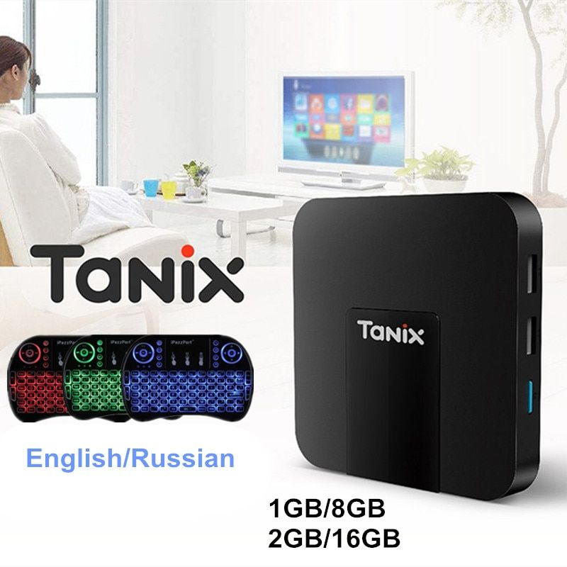 Original Tanix TX3 Mini Android 7.1 Smart TV Box S905W Set Top Box 2.4GHz Wireless 1GB/2GB 8GB/16GB Support 4K HD 100M 5G Wifi