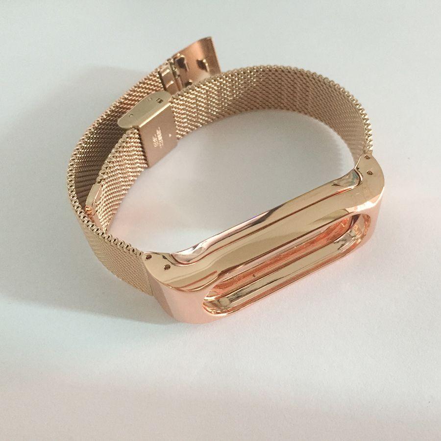 Bracelet de rechange en métal pour Xiao mi Band 2 Bracelet magnétique en acier inoxydable pour mi Band 2 bracelets accessoires pour mi Band 2