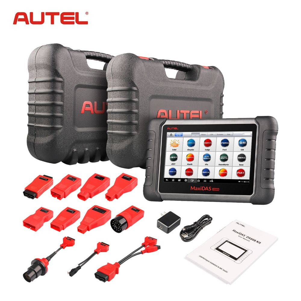 Autel MaxiDAS DS808 K Upgrade version of DS708 DS808 Full System Car Diagnostic and ECU coding Tool with full OBD OBD2 adapters