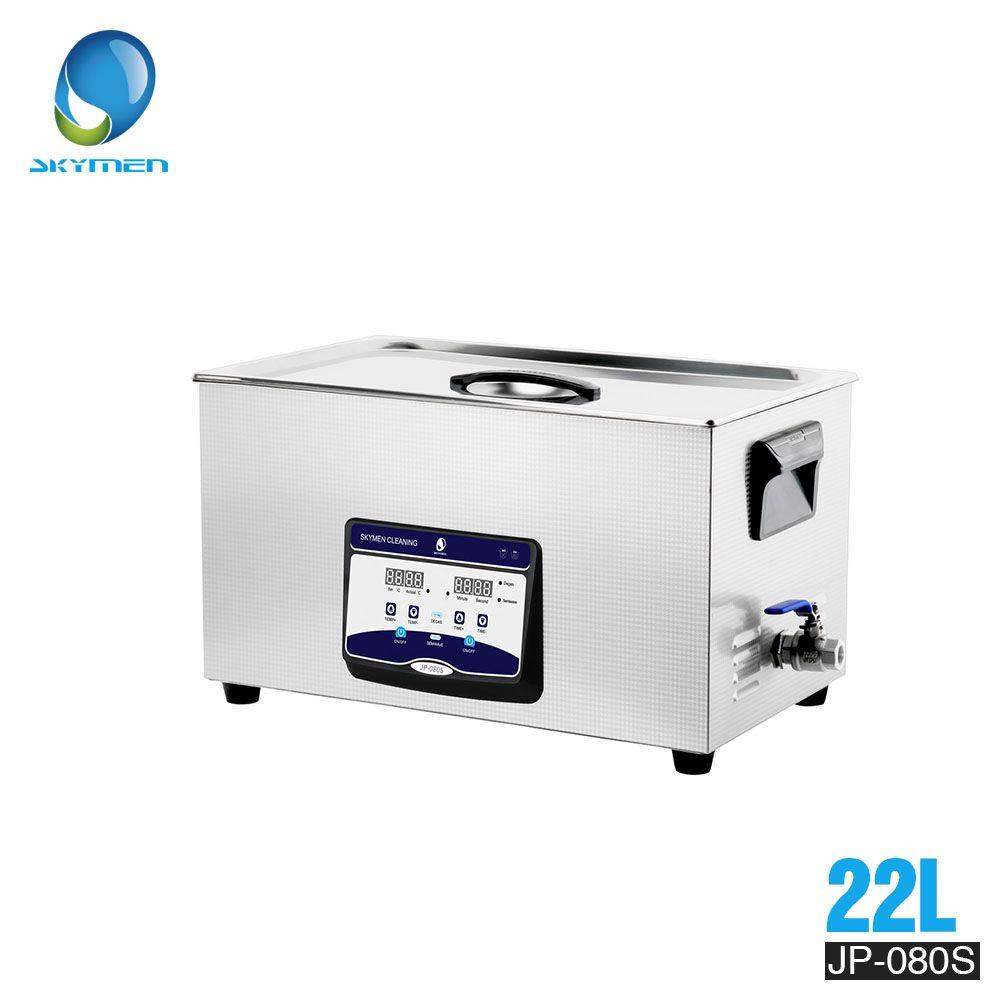 SKYMEN Digital Ultraschall Reiniger Bad 22L 480 W 110/220 V bad ultraschall reinigung transducer reiniger Auto Motor Teile JP-080S