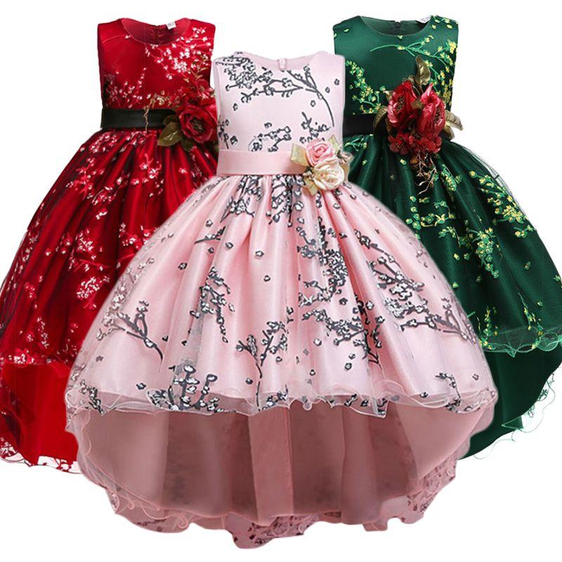 Filles robe de noël enfants soirée robe filles Costume enfants robes pour filles princesse robe fleur filles robe de mariée