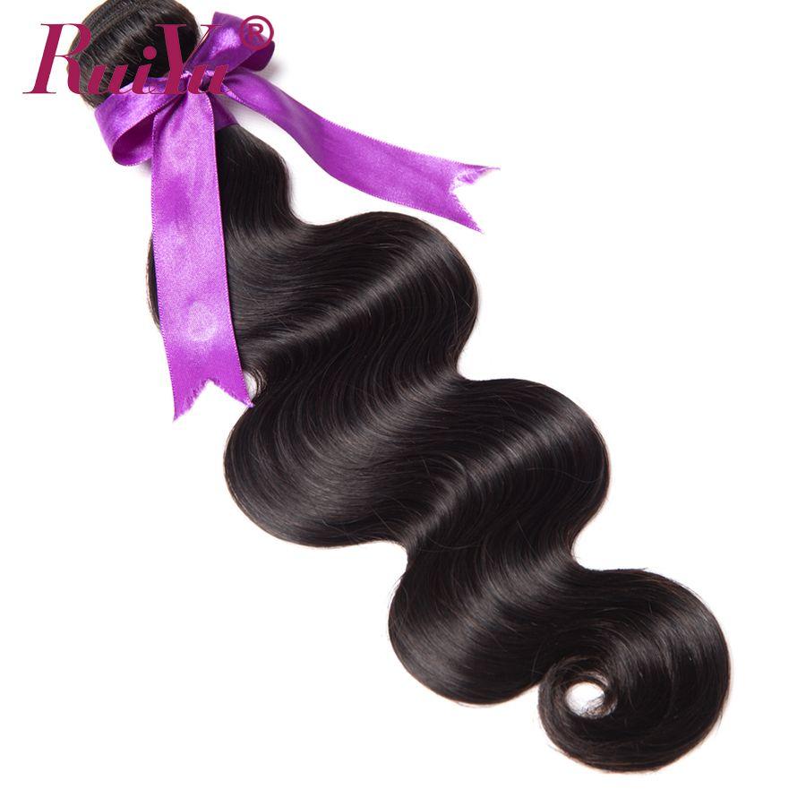 RUIYU Hair Brazilian Body <font><b>Wave</b></font> Hair Bundles Human Hair Weave Bundles Non Remy Hair Extensions 10-28 Natural Color 1PC