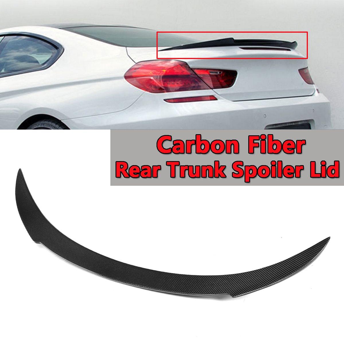 Real Carbon Fiber Hinten Stamm Spoiler Deckel Für BMW F13 F06 640i 650i M6 2012-2016 v Stil Hinten flügel Spoiler Hinten Kofferraum Schwarz 130 cm