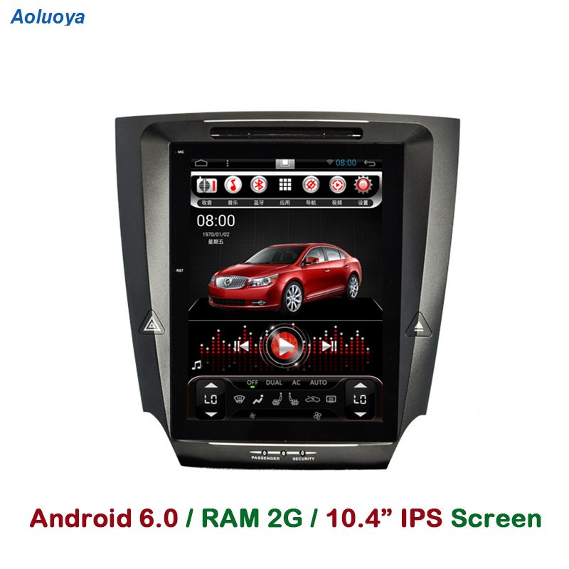 Aoluoya 1024*768 RAM 2 GB Android 6.0 COCHES REPRODUCTOR de DVD Para Lexus IS250 IS300 IS350 2005-2009 2010 2011 Radio Navegación GPS WIFI