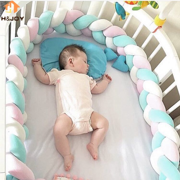 3M Nordic Long Knotted Braid Pillow Cotton Knots Cushion Decorative Sofa Pillow Baby Bumper Crib Bed Protector Kids Room Decor