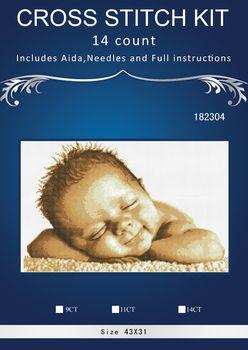 cross stitch set Needlework DIY Cross Stitch Set Embroidery Kit  Pattern Counted Cross-Stitching baby 43*31CM 1