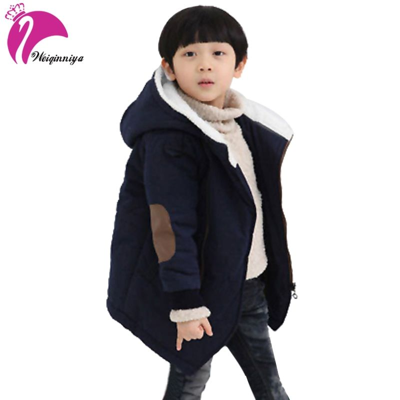 New Brand 2018 Autumn Winter Kid's Fashion & Casual Jackets Boy's Cashmere Long Sleeve <font><b>Hooded</b></font> Coats Kids Warm Clothing Outwears
