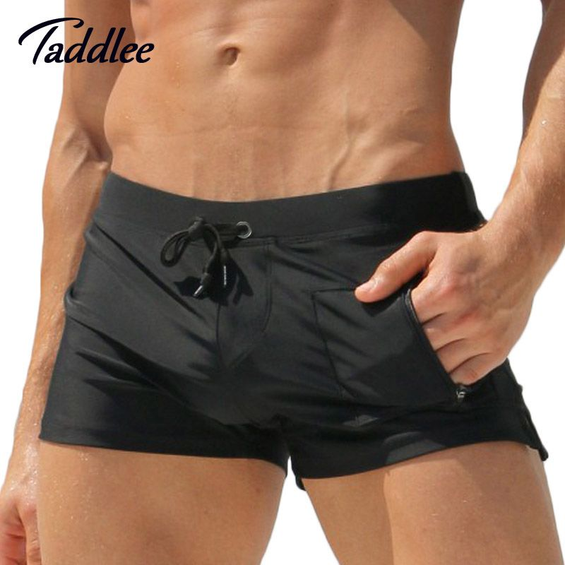 Taddlee Brand Man Men Swimwear Men's Swimsuits <font><b>Surf</b></font> Board Beach Wear Man Swimming Trunks Boxer Shorts Swim Suits Gay Pouch WJ