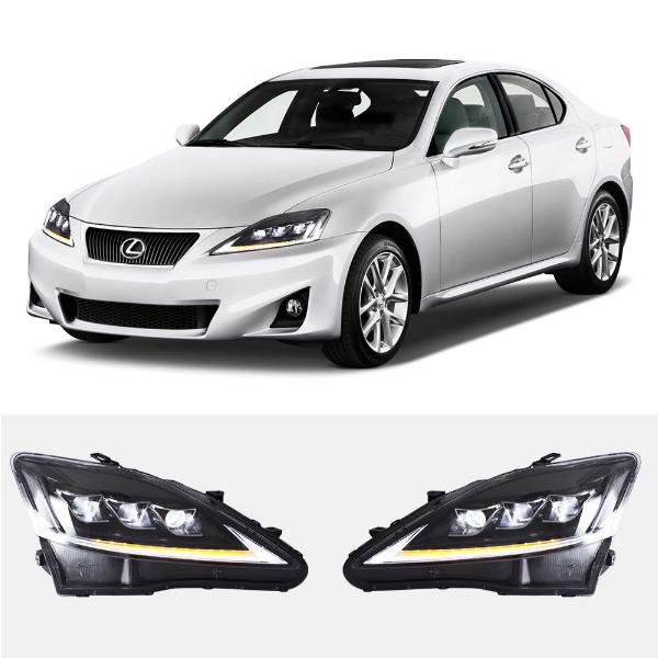 VLAND Fabrik für Auto kopf lampe für IS250 Scheinwerfer 2006-2012 für IS350 Scheinwerfer drehen signal mit LED sequentielle anzeige