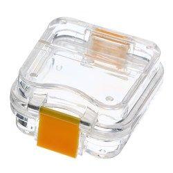 Jelas Kasus Penyimpanan Denture Gigi kotak Dengan Film Membran Gigi Ortodonti Retainer Mouthguard Gigi Palsu Kontainer 4.5*4*2 cm