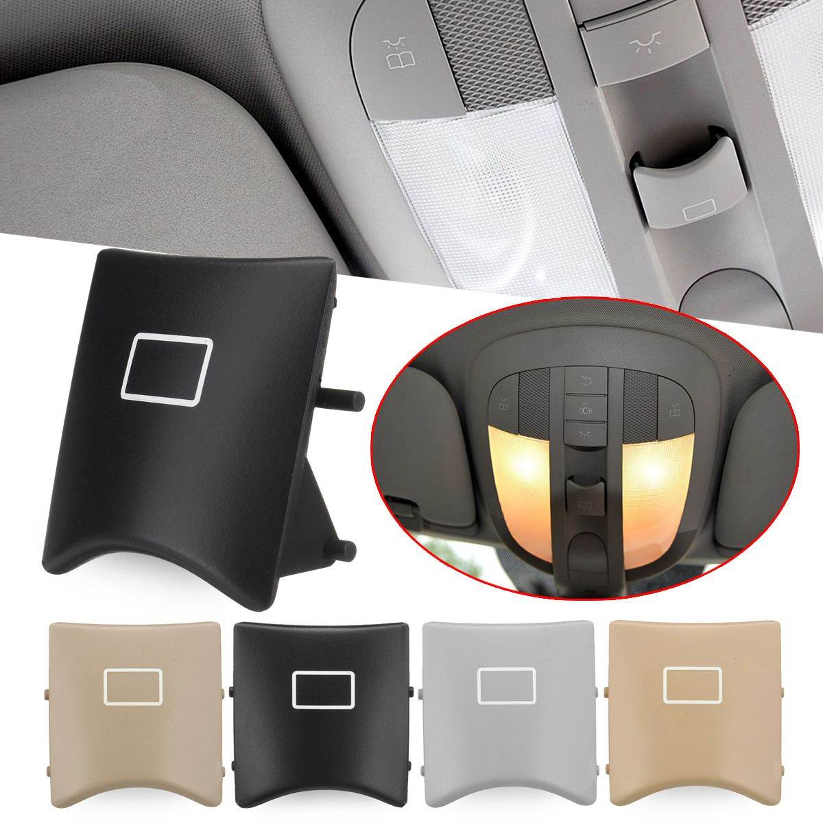 Car Sunroof Window Switch Button Cover Plastic for Mercedes-Benz ML W164 W251 X164 16482071858K67 4-Colors